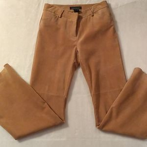 Genuine Suede Flare Boho Pants Camel Fully Lined